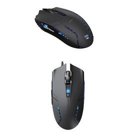 Cobra EMS151 Maximum 1600-dpi Red Wave Sensor Wired Gaming Mouse