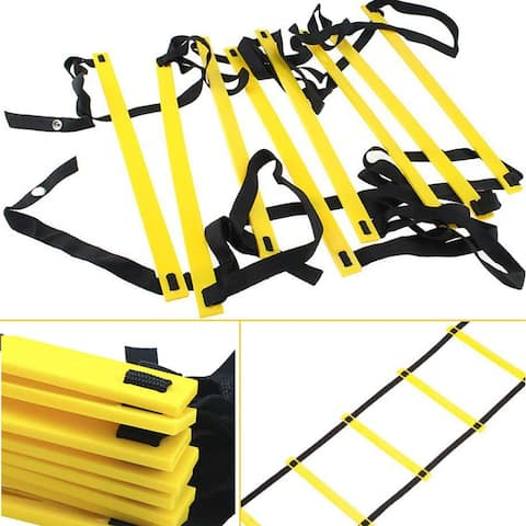 13ft 8-rung Agility Ladder Speed Fitness Soccer Feet Training Hurdles - SIZE