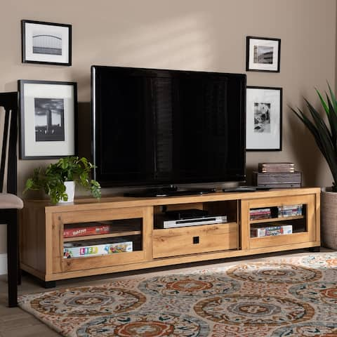Beasley Modern and Contemporary Wood TV Stand 1-Drawer