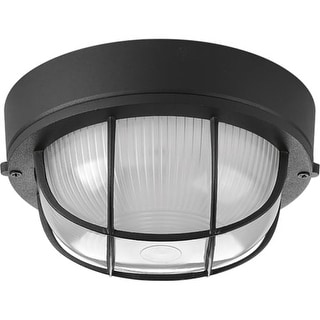 "Progress Lighting P3709 Bulkheads Single Light 7-7/8"" Wide Flush Mount Ceiling Fixture"