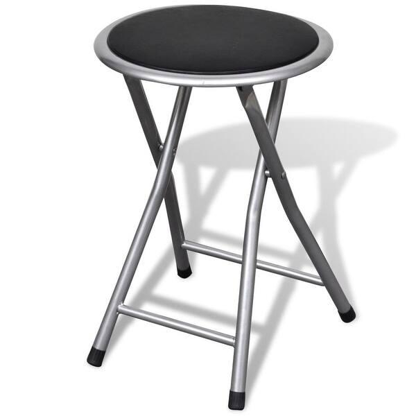 Terrific Shop Vidaxl Set Of 4 Round Folding Kitchen Breakfast Bar Unemploymentrelief Wooden Chair Designs For Living Room Unemploymentrelieforg
