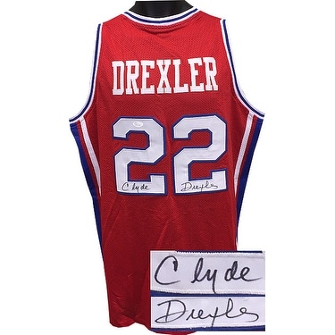 66f2a4a44718 Shop Clyde Drexler signed Red TB College Style Custom Stitched Basketball Jersey  XL wBlue Trimsigned on - Free Shipping Today - Overstock - 19868759