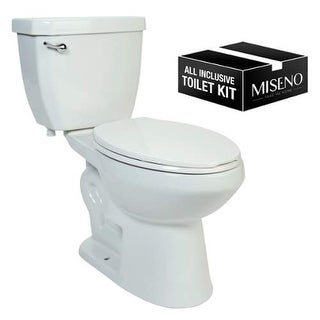 Miseno MNO1503C Two-Piece High Efficiency Toilet with Elongated ADA Height Bowl, - White