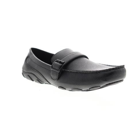 Unlisted by Kenneth Cole String Along Black Mens Loafers & Slip Ons Casual