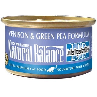 Natural Balance LID Venison & Green Pea Canned Cat Food 24/5.5oz