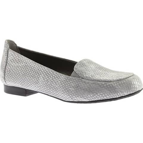 Ros Hommerson Women's Regan Loafer Silver Leather