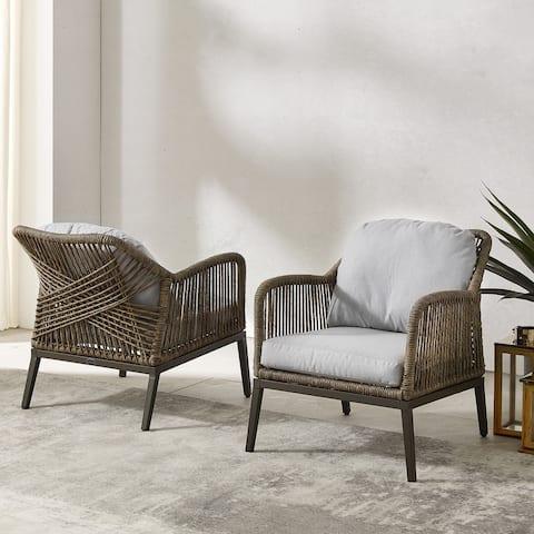 Haven 2Pc Outdoor Wicker Armchair Set