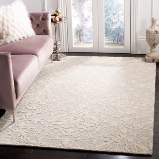 Link to Safavieh Handmade Blossom Lollie Modern Floral Wool Rug Similar Items in Transitional Rugs