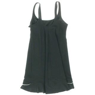 Gottex Womens Contrast Trim Sleeveless Dress Swim Cover-Up