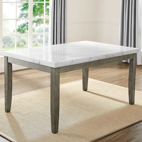 The Gray Barn Ellington Marble Top Dining Table