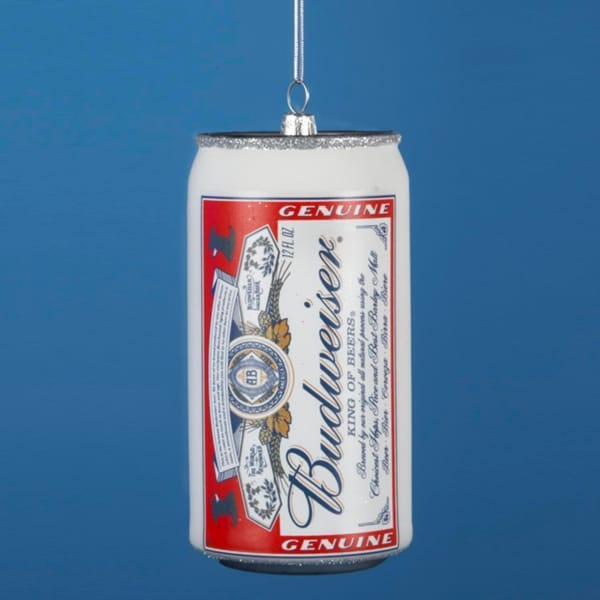 """4.75"""" Happy Hour Anheuser Busch Budweiser Beer Can Christmas Ornament"""