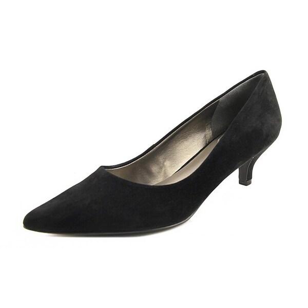 Trotters Paulina Women Pointed Toe Suede Black Heels