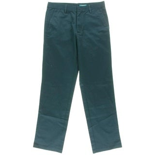 Haggar Mens Twill Solid Chino Pants
