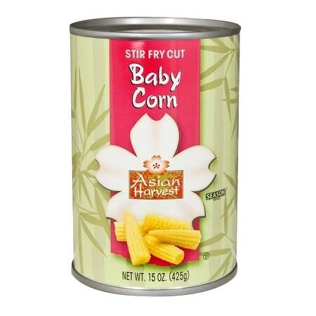 Asian Harvest Baby Corn - Stir Fry Cut - Case of 12 - 15 oz.