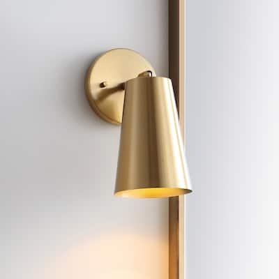 "SAFAVIEH Lighting Leonardo LED Wall Sconce - 4.8""x10""x11"""
