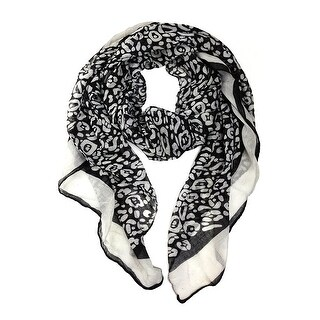 Elegant Scarf Animal Print, Long Lightweight Wrap