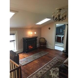 Gracewood Hollow Kegg Walnut Infrared Electric Fireplace