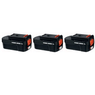 Replacement For Black & Decker FS180BX Power Tool Battery (1500mAh, 18v, NiCD) - 3 Pack