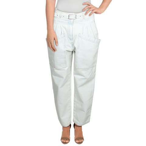 IRO Womens Jeans Denim Cropped - Light Blue