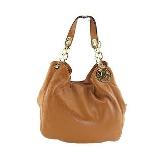 Michael Michael Kors Fulton Large Shoulder Tote Women Tan Hobo - Beige