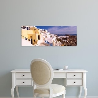 Easy Art Prints Panoramic Images's 'Buildings in a city, Santorini, Cyclades Islands, Greece' Premium Canvas Art