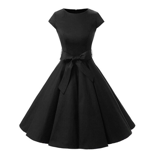 23c464d5e0 Dressystar Black Women's Size XL 1950's Rockabilly Swing Dress