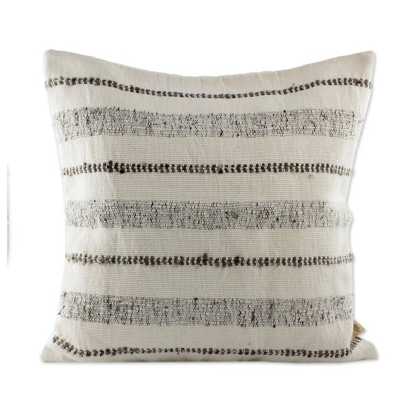 Handmade Beauty In Taupe Wool Blend Cushion Cover (Guatemala). Opens flyout.