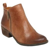 Lucky Brand Women's Basel Bootie Toffee Leather