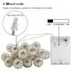 10ft Hollow Ball Battery Operated LED Christmas String Lights for Christmas, Holiday, Party, Event Decorative Lighting - Thumbnail 3