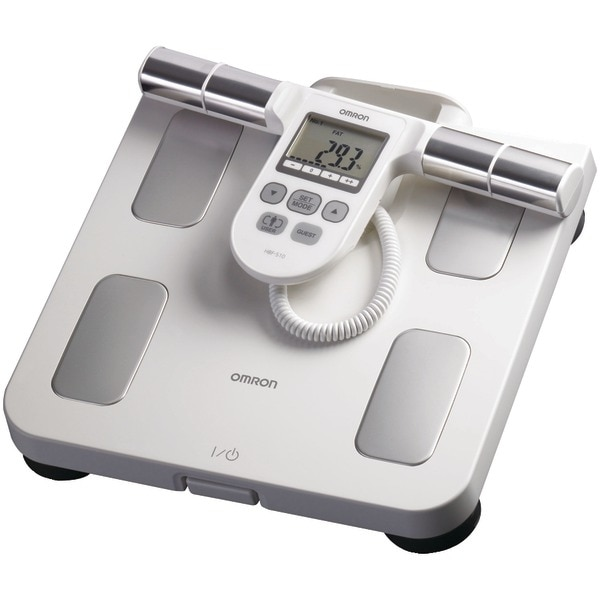 Omron Hbf-510W Full-Body Sensor Body Composition Monitor & Scale (White)