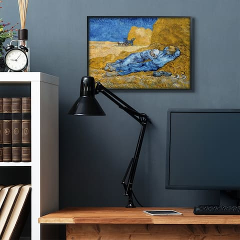 Stupell Industries Break Time Yellow Blue Van Gogh Classical Painting Framed Wall Art