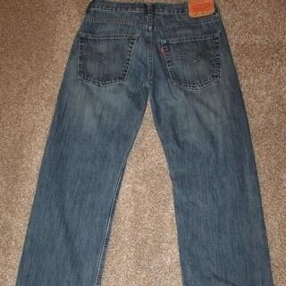 LEVI'S 550 Relaxed Fit Boys Blue Jeans 16 Regular 28 x 28 Redtab Denim