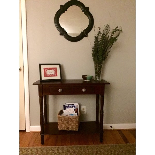 Two Drawer Console Table   Free Shipping Today   Overstock.com   17431263