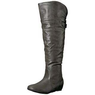 Brinley Co Women's Wing Over The Knee Boot
