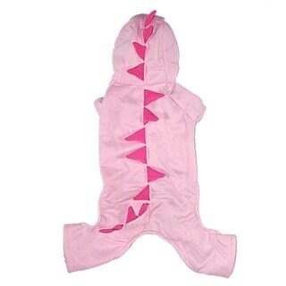 Unique Bargains Cute Pink Dinosaur Winter Pet Puppy Dog Hoodies Coat Jacket Jumpsuit Clothes L