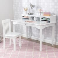 KidKraft: Avalon Desk with Hutch - White