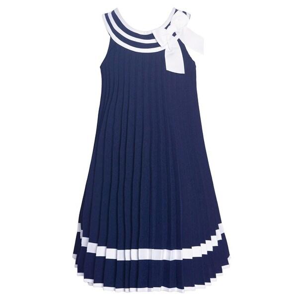8a8250add Shop Bonnie Jean Big Girls Navy White Stripe Pleated Sailor Easter ...