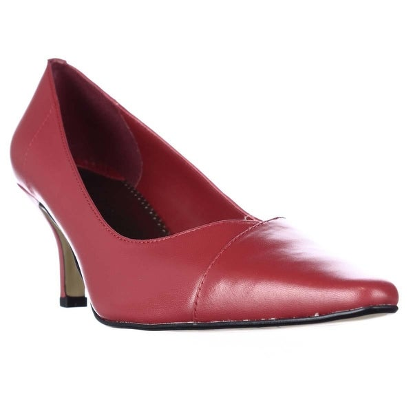 Bella Vita Wow Pointed Toe Classic Pumps, Red