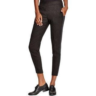 Pure DKNY Womens Casual Pants Stretch Satin Trim