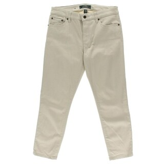 LRL Lauren Jeans Co. Womens Straight Slim Fit Cropped Jeans