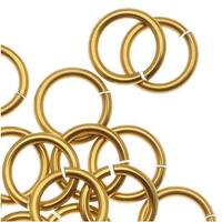 Artistic Wire, Chain Maille Jump Rings, 18 Ga / ID 5.56mm / 75pc, Tarnish Resistant Gold Tone Brass