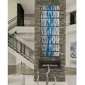 Statements2000 Aqua Blue / Silver Modern Abstract Metal Wall Art Painting by Jon Allen - Caliente Aqua - Thumbnail 4