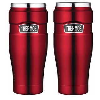 Thermos Stainless King Vacuum Insulated 16oz Travel Tumbler Red - 2PK