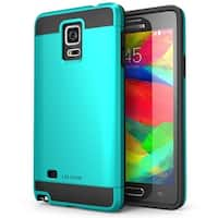i-Blason-Samsung Galaxy Note 4-Unity Series Armored Hybrid TPU-Blue