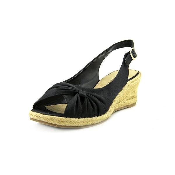 Bella Vita Sangria Too Women WW Open Toe Synthetic Black Wedge Sandal