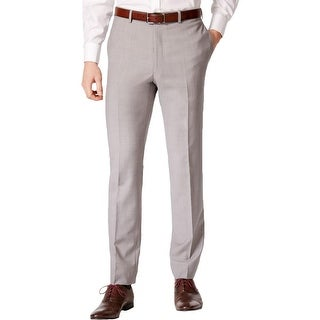 Calvin Klein Mens Straight Leg Pants Wool Extreme Slim Fit