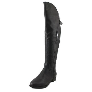 Rialto First Row Wide Calf Women Round Toe Synthetic Black Over the Knee Boot