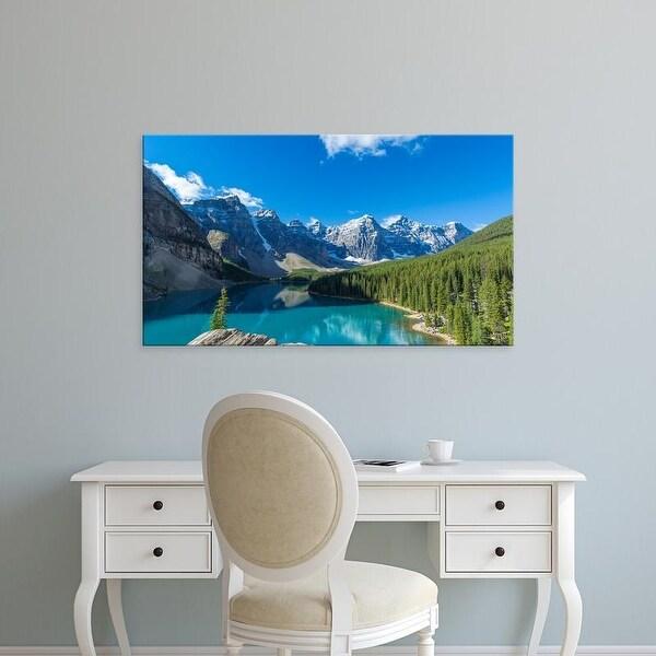 Easy Art Prints Panoramic Images's 'Moraine Lake, Banff National Park, Canadian Rockies, Alberta, Canada' Canvas Art