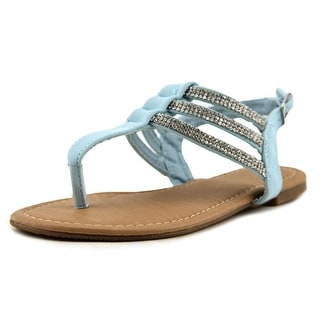 Dream Pairs Estelle Youth Open Toe Synthetic Blue Gladiator Sandal