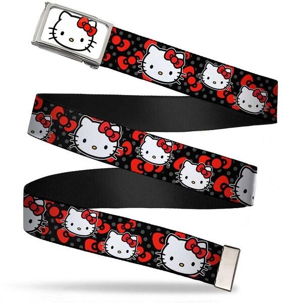 Hello Kitty Face Fcg White Chrome Hello Kitty Multi Face W Mini Dots Web Belt